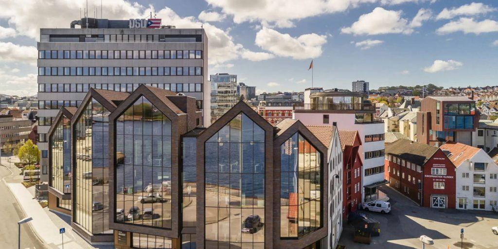 DSD Front-bygget i Stavanger. Fasade